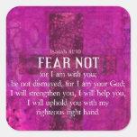 El miedo del 41:10 de Isaías no, porque yo estamos Calcomanía Cuadradase