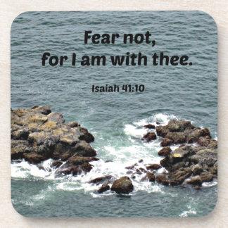 El miedo del 41:10 de Isaías no, porque yo estamos Posavasos De Bebida
