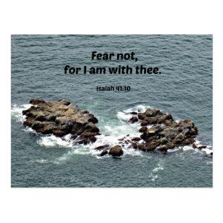 El miedo del 41:10 de Isaías no, porque yo estamos Tarjetas Postales