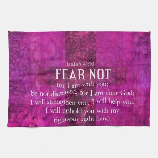 El miedo del 41:10 de Isaías no, porque yo estamos Toalla
