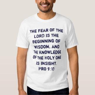 El miedo del SEÑOR es el principio de la Polera