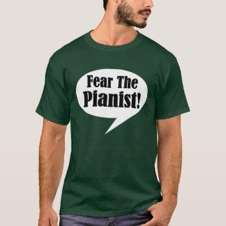El miedo divertido el pianista embroma la camiseta