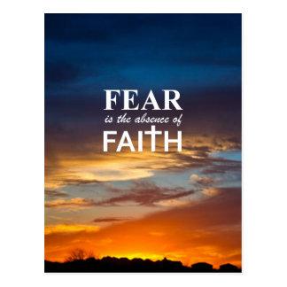 El miedo es la ausencia de fe postal