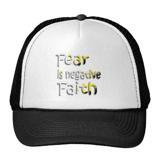 El miedo es la fe negativa 2 gorras de camionero