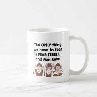 El miedo sí mismo Monkeys Taza De Café