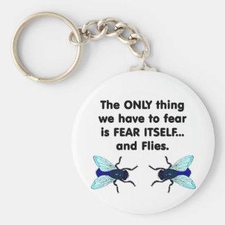 El miedo sí mismo vuela 1 llavero redondo tipo pin