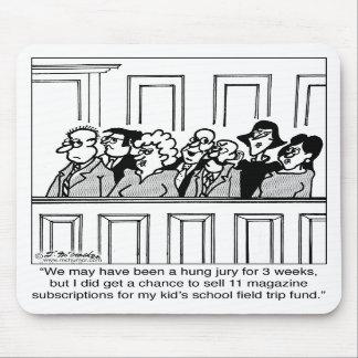 El miembro del jurado vende 11 suscripciones de la tapetes de raton
