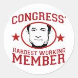 El miembro más trabajador de los congresos etiquetas redondas