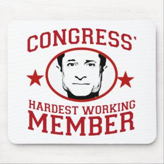 El miembro más trabajador de los congresos alfombrillas de ratón