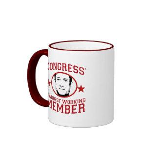 El miembro más trabajador de los congresos taza de café