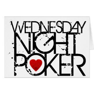 El miércoles por la noche póker tarjetón