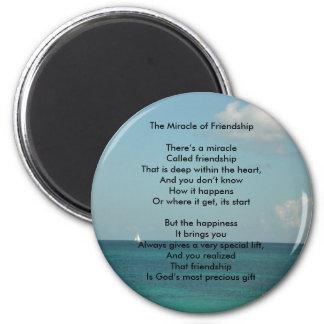 El milagro de la amistad imán redondo 5 cm