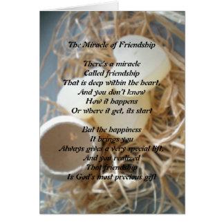 El milagro de la amistad tarjeta de felicitación