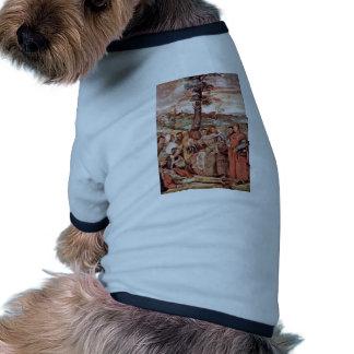 """El milagro de la cura de un miembro separado """" camisa de mascota"""