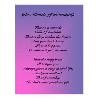El milagro de la postal del poema de la amistad