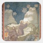 El milagro de la primavera, 1297-99 pegatinas cuadradas personalizadas