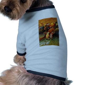 El milagro de langostas de Meister Francke (el mej Camisa De Perrito
