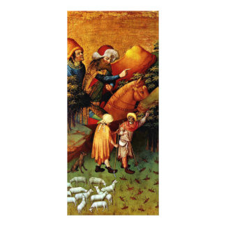 El milagro de langostas de Meister Francke (el mej Diseño De Tarjeta Publicitaria