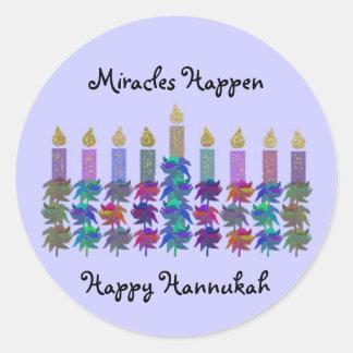 El milagro de los pegatinas de Hannukah