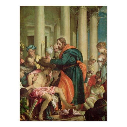 El milagro de St. Barnabas, c.1566 Tarjeta Postal