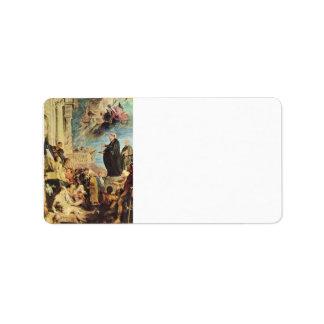 El milagro de St Francis Javier de Paul Rubens Etiqueta De Dirección