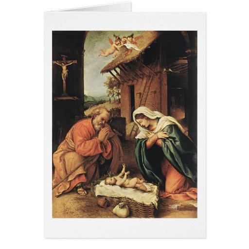 El milagro del navidad tarjeton