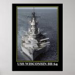 El militar de USS Wisconsin envía emblemas de los  Poster