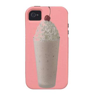 El Milkshake azotó la cereza poner crema en el Vibe iPhone 4 Carcasas