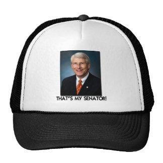 ¡El mimbre de Rogelio, de que es mi senador! Gorras De Camionero