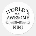 El Mimi más impresionante del mundo Etiqueta Redonda