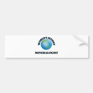 El mineralogista más atractivo del mundo pegatina de parachoque