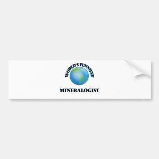 El mineralogista más divertido del mundo etiqueta de parachoque