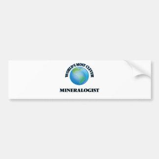 El mineralogista más listo del mundo pegatina de parachoque