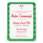 El mini golf verde de Argyle embroma invitaciones Comunicado
