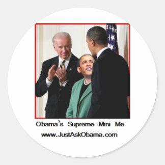 El mini supremo de Obama yo Pegatina Redonda