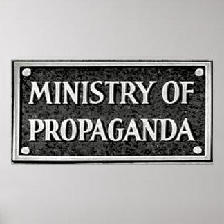 El ministerio de la propaganda póster