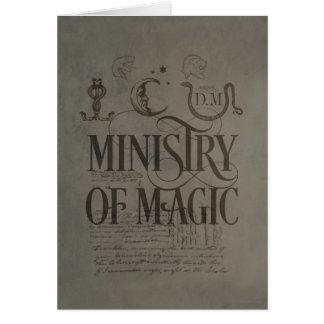 EL MINISTERIO DE MAGIC™ TARJETA DE FELICITACIÓN