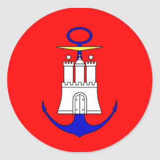 El Ministerio de marina Hamburgo Alemania Pegatinas Redondas