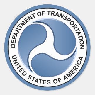 El Ministerio de Transporte Pegatina Redonda