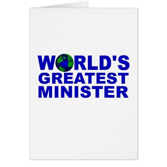 El ministro más grande del mundo tarjeta de felicitación
