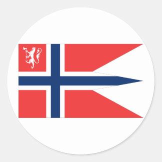 el ministro noruego defensa, Noruega Pegatinas Redondas