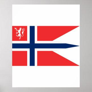 el ministro noruego defensa, Noruega Póster
