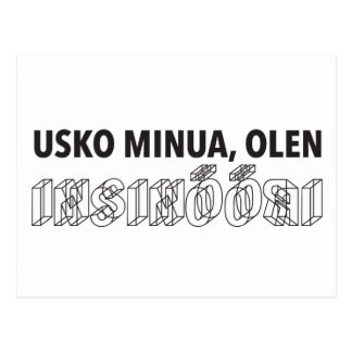El minua de Usko, olen insinööri. Postales