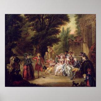 El minué debajo del roble, 1787 póster