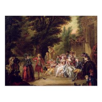 El minué debajo del roble, 1787 tarjeta postal