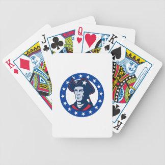 el minuteman americano del patriota protagoniza re barajas de cartas