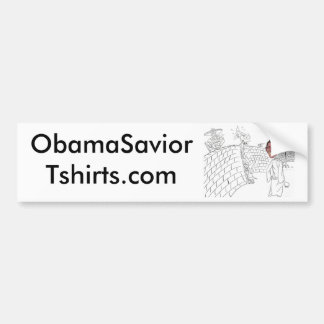 El Minuteman Obama patrulla la frontera mexicana-a Pegatina De Parachoque
