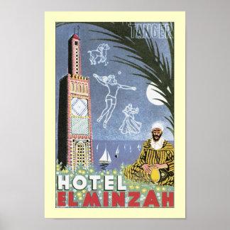 EL Minzah del hotel Póster