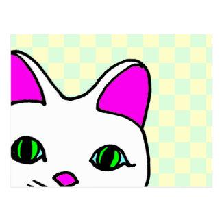 El mirar a escondidas afortunado dulce del gato de tarjetas postales