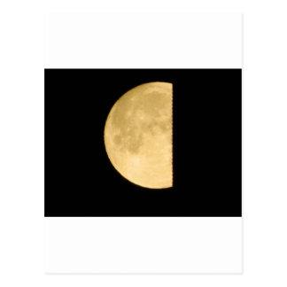 El mirar a escondidas de la Luna Llena Tarjetas Postales